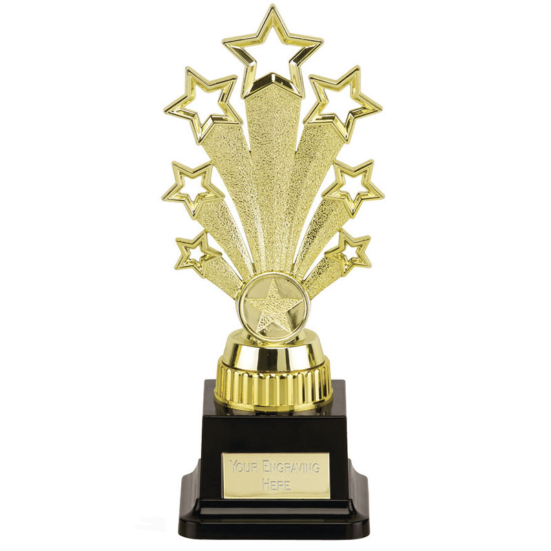 9 Inch Starburst Gold Plinth Fanfare Award