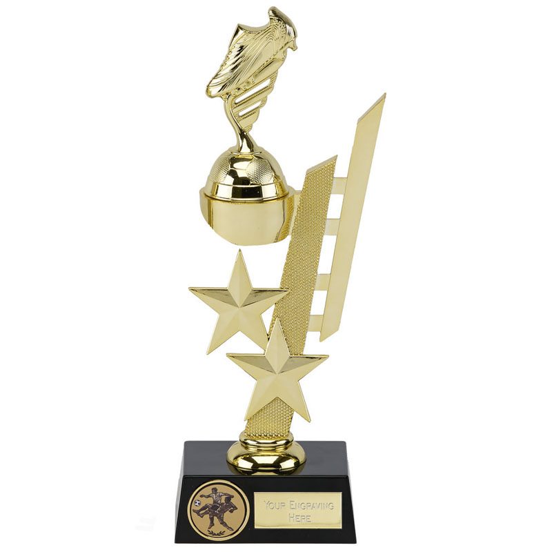 10 Inch Gold Detailed Boot Sports Star Award