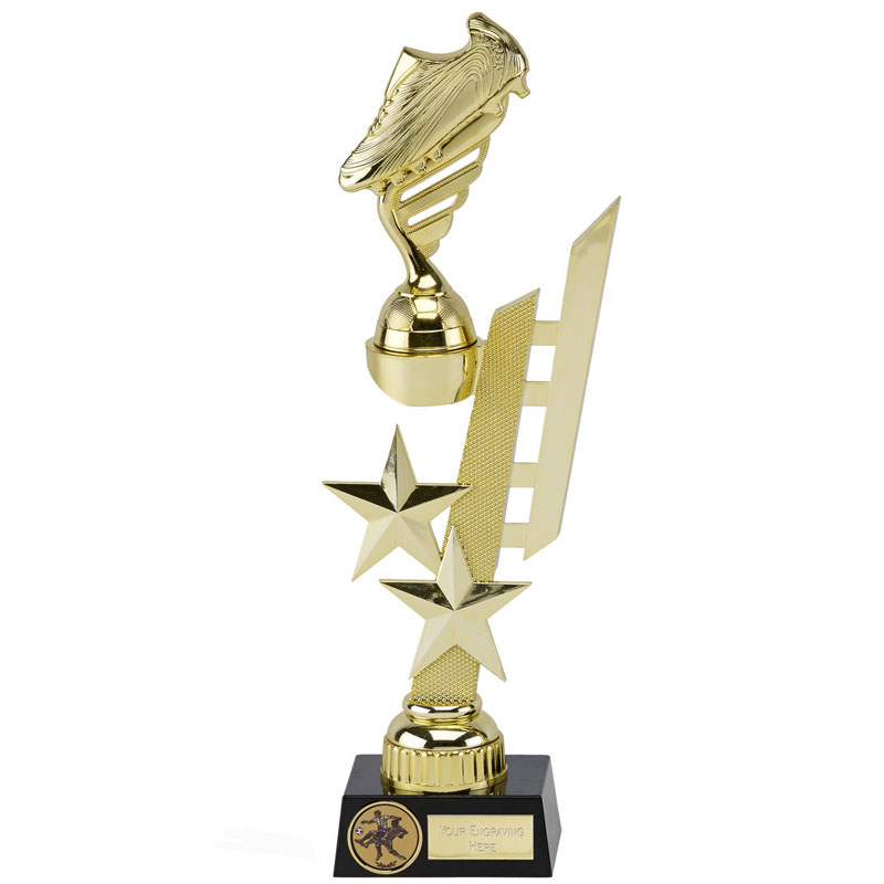 12 Inch Gold Detailed Boot Sports Star Award