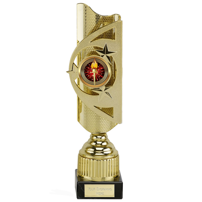 12 Inch Gold Centre Holder Infinity Award