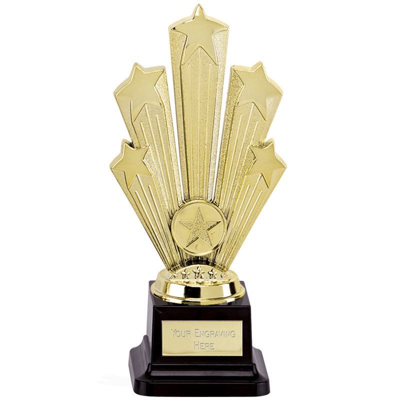 8 Inch Large Base Gold Starburst Supreme Award