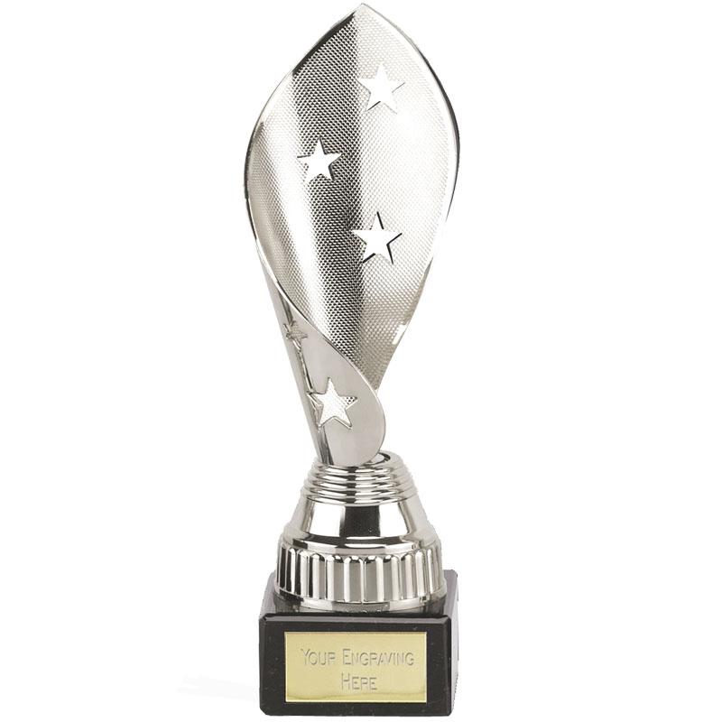 8 Inch Silver Star Twist Festival Award