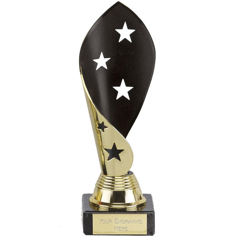 7 Inch Black & Gold Star Twist Festival Award