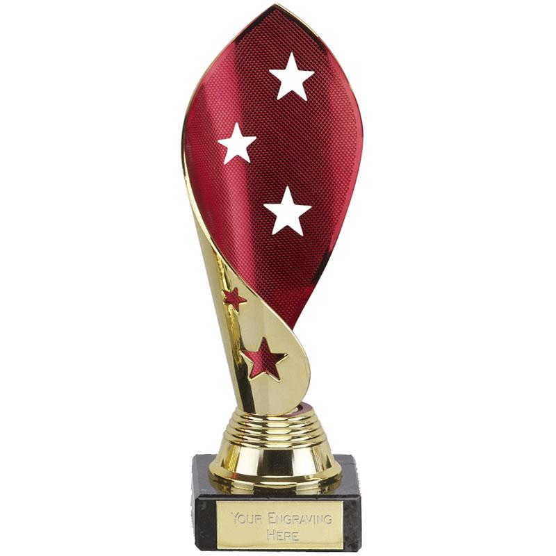 7 Inch Red & Gold Star Twist Festival Award