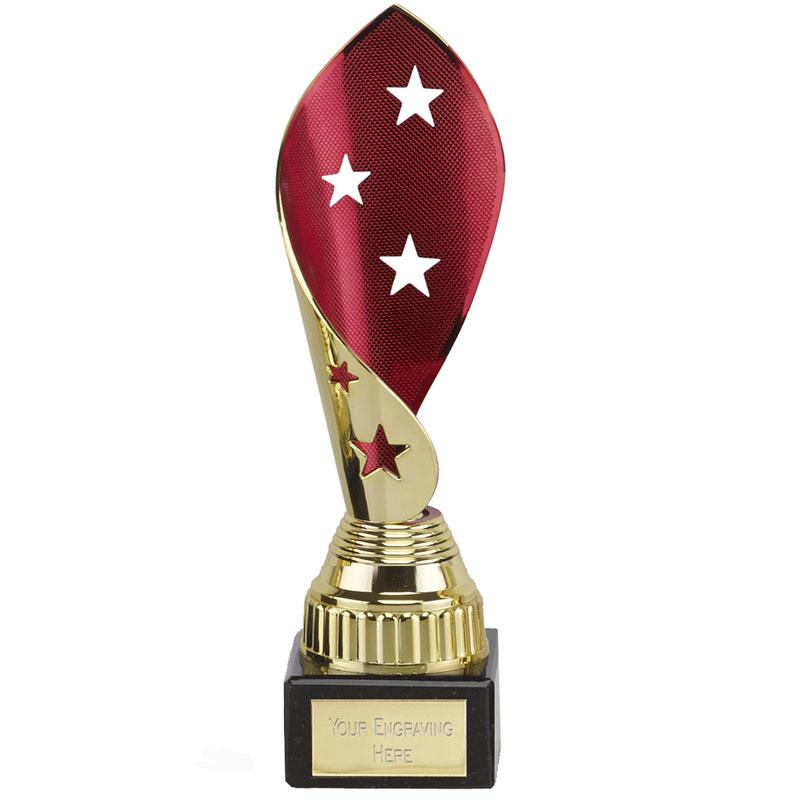 8 Inch Red & Gold Star Twist Festival Award