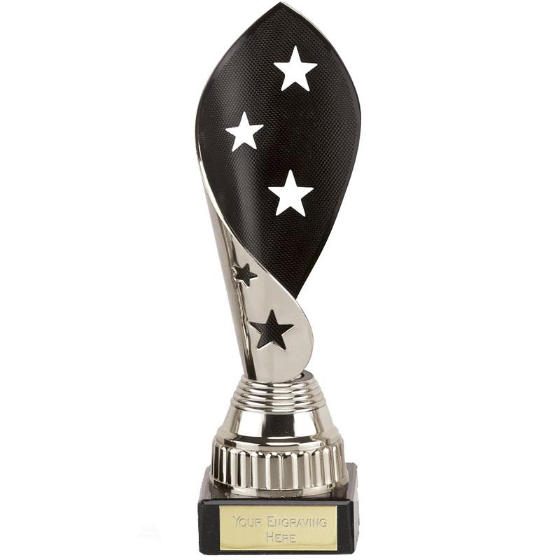 7 Inch Black & Silver Star Twist Festival Award