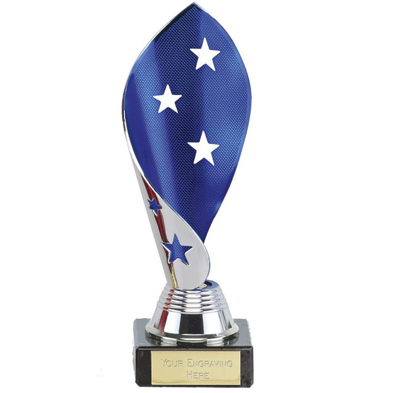 7 Inch Blue & Silver Twist Festival Award