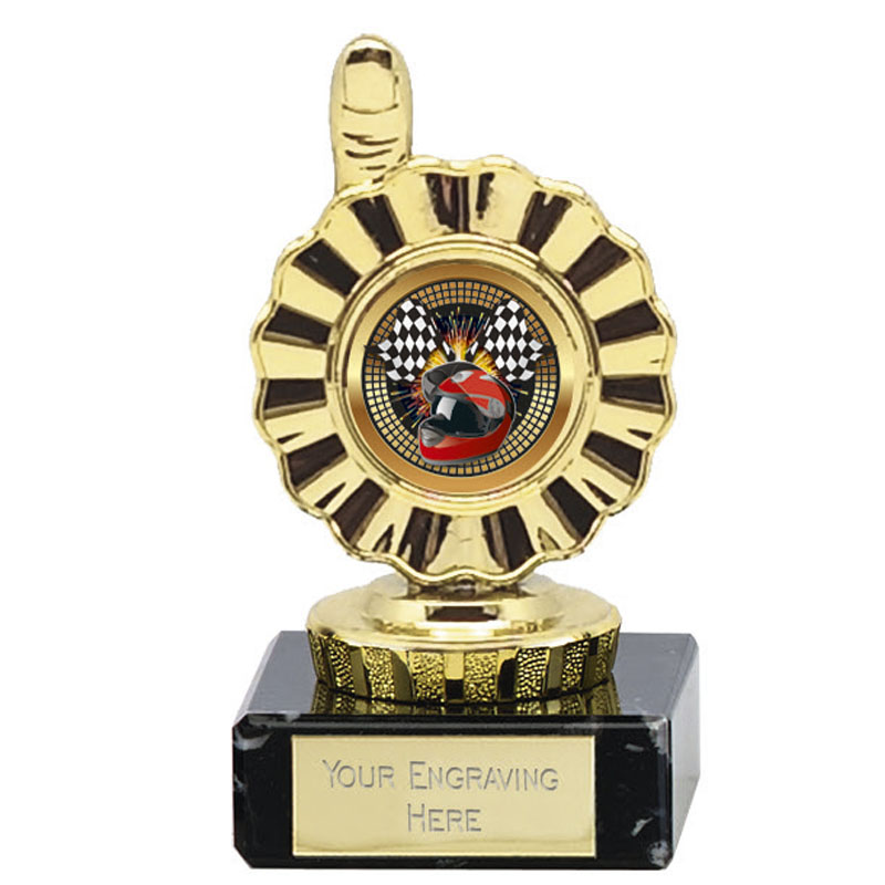 4 Inch Gold Centre Holder Rosette Mini Award