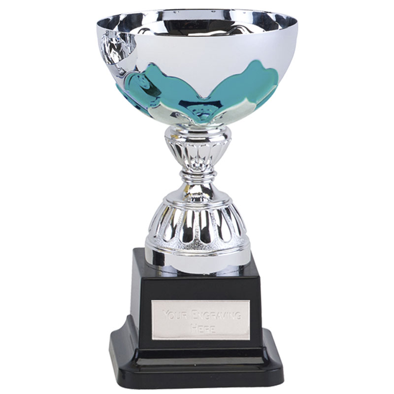 6 Inch Teal Embellishment Eagle Trophy Cup