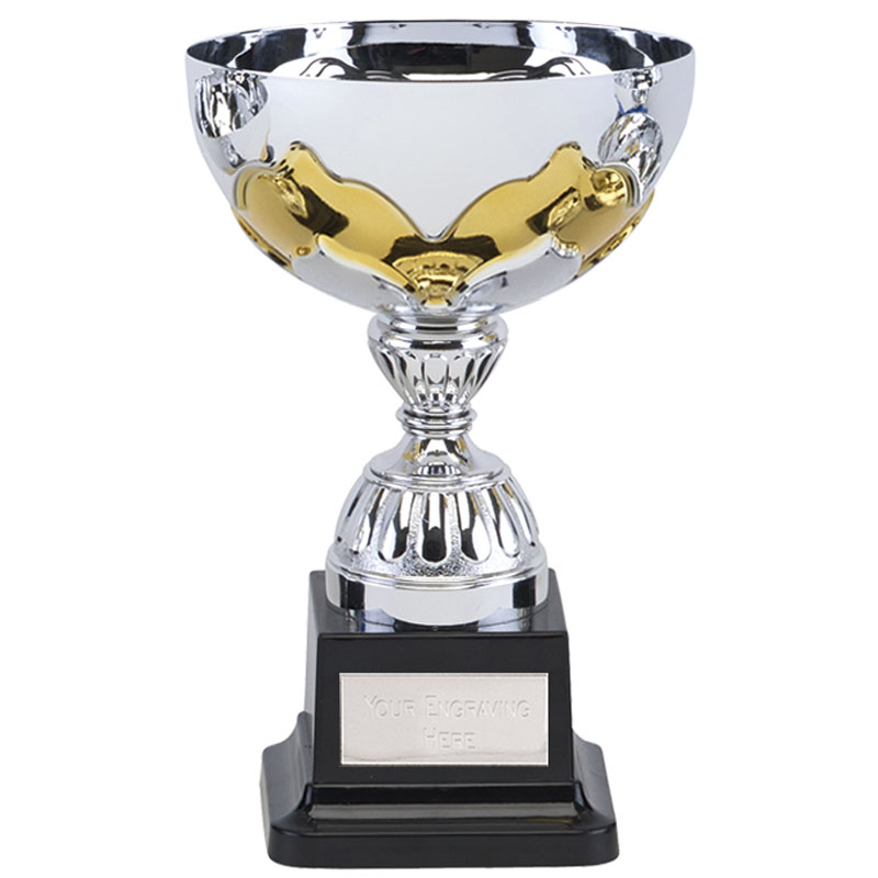 6 Inch Yellow Embellishment Eagle Trophy Cup