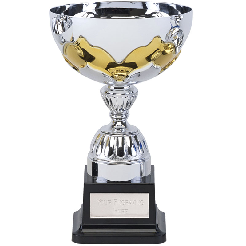8 Inch Yellow Embellishment Eagle Trophy Cup