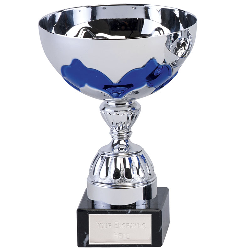 7 Inch Blue Embellishment Eagle Trophy Cup