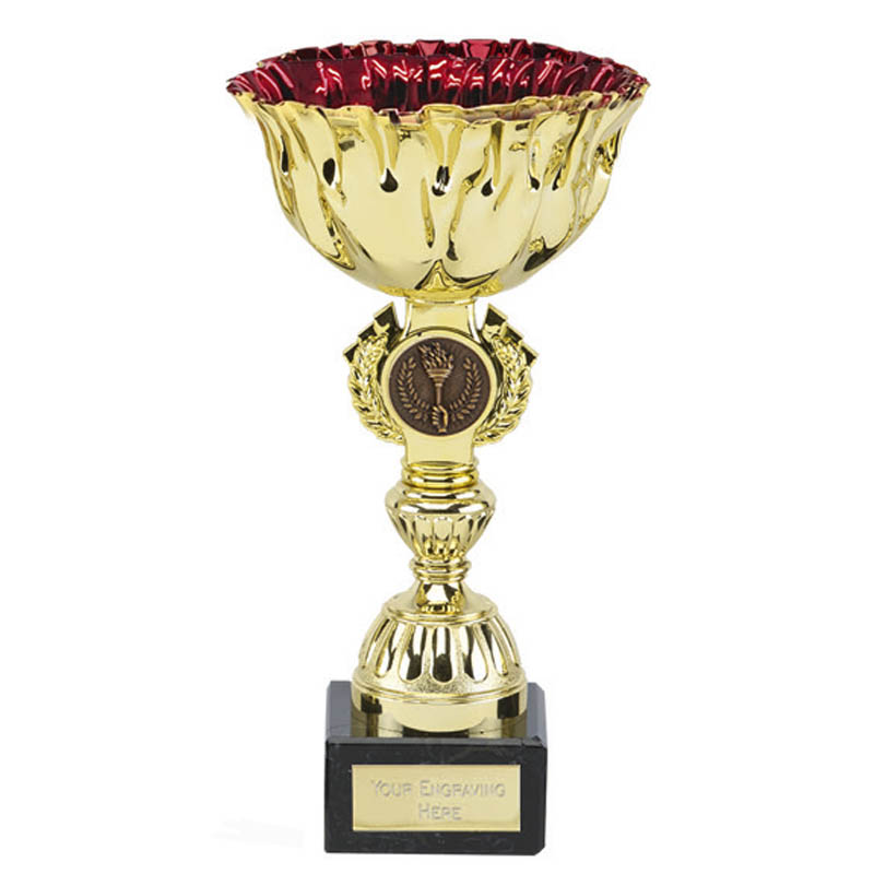 8 Inch Red Cup & Centre Holder Ruby Trophy Cup