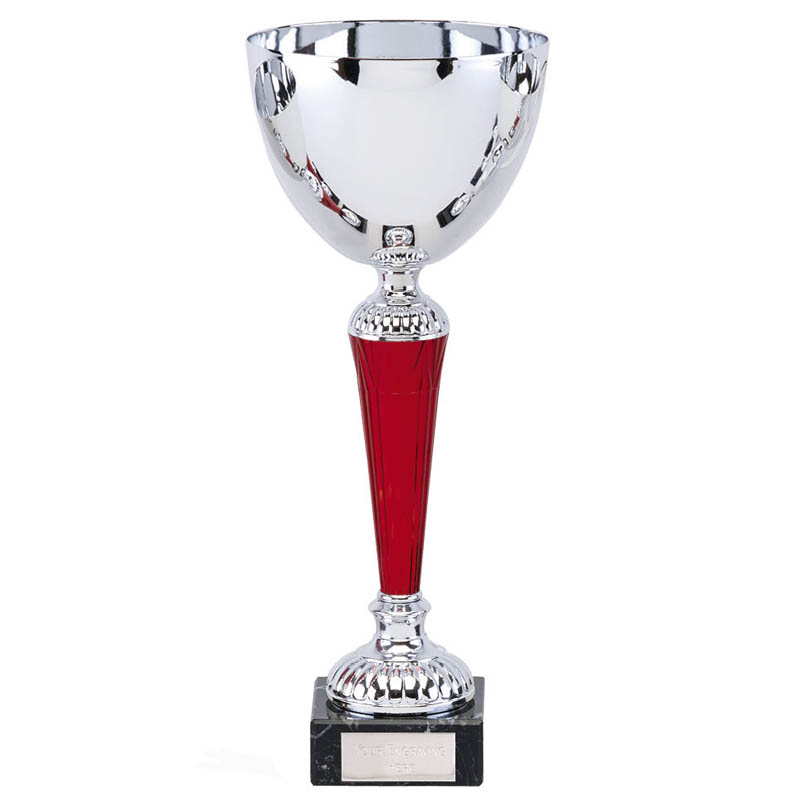 12 Inch Red Stem Osprey Trophy Cup