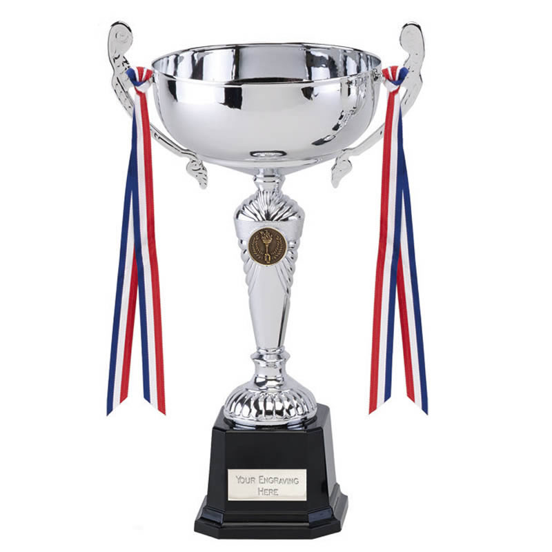 9 Inch Decorative Handles with Ribbons Sorrento Trophy Cup