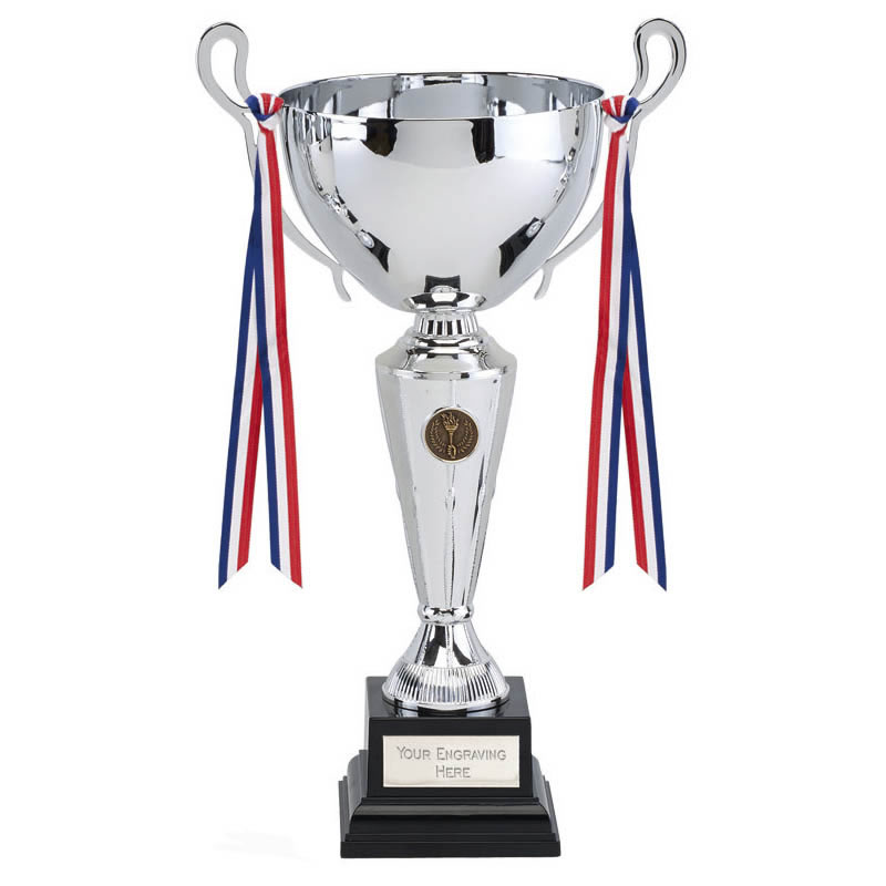 10 inch Wide Cup with Decorative Ribbons Kintyre Trophy Cup
