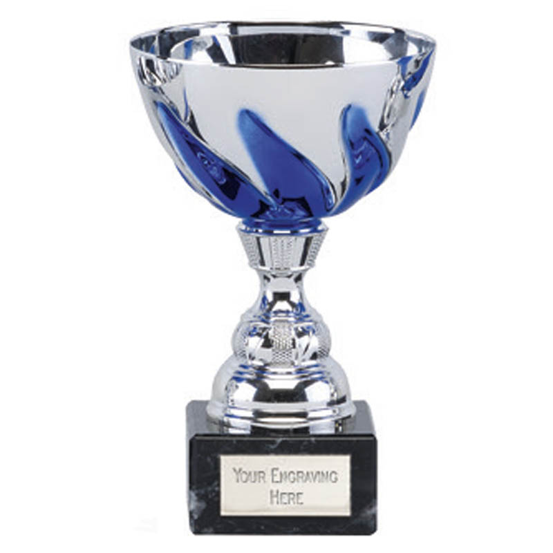 6 Inch Blue Embellished Cup Oracle Trophy Cup