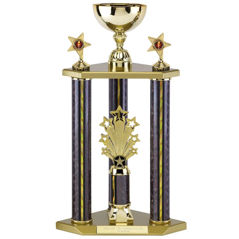 20 inch Cup on Three Columns Spring Glitz Trophy Cup