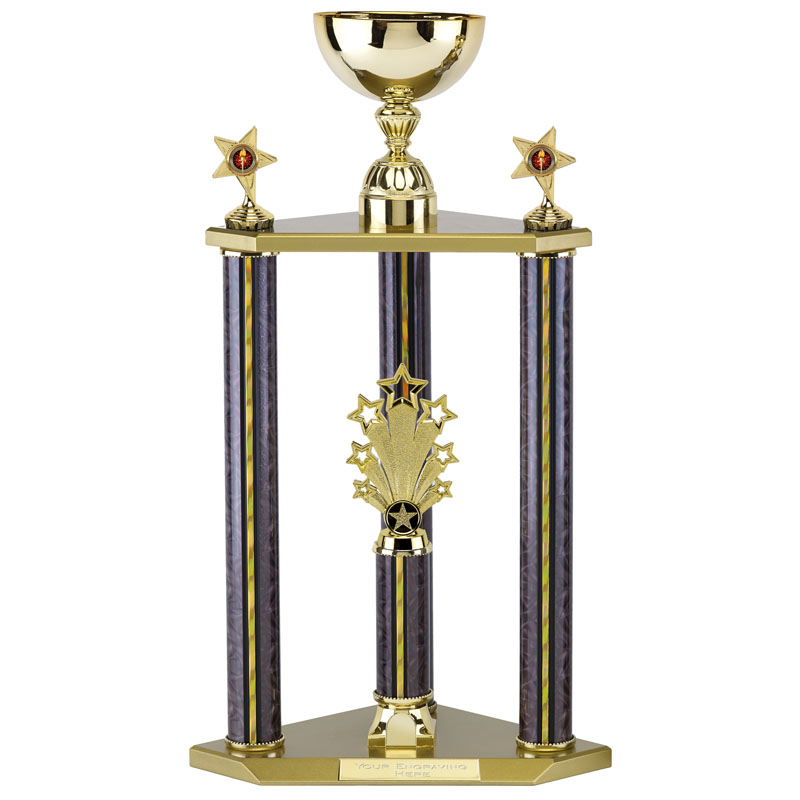 25 Inch Cup on Three Columns Spring Glitz Trophy Cup