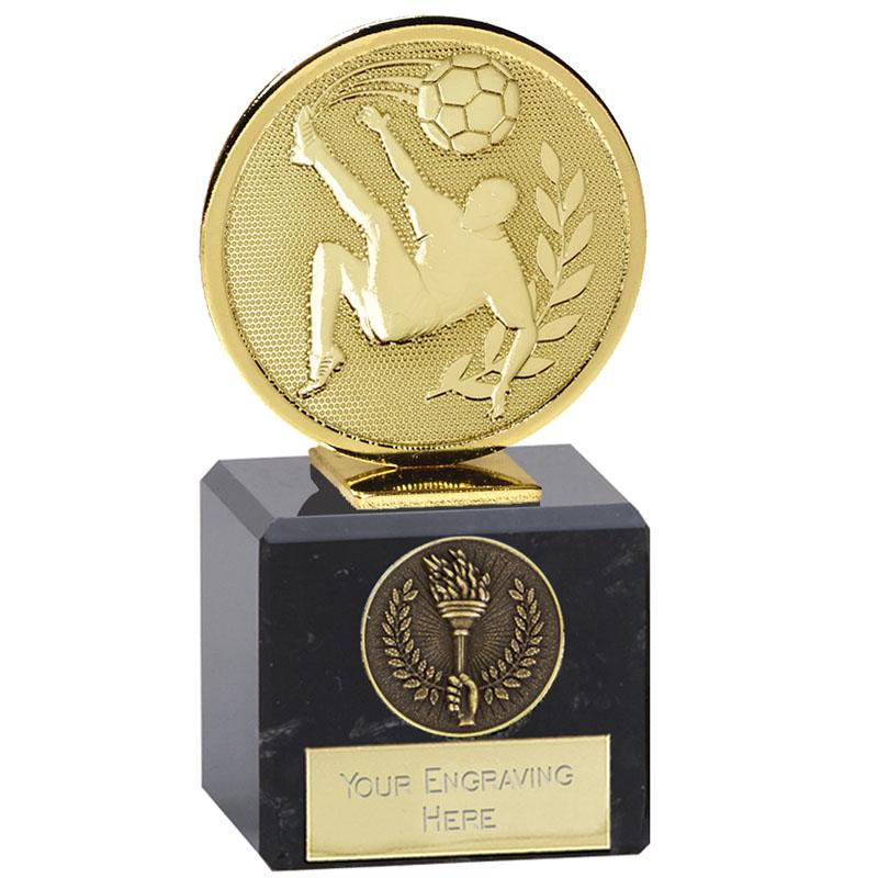 4 Inch Gold Overhead Kick Football Global Award