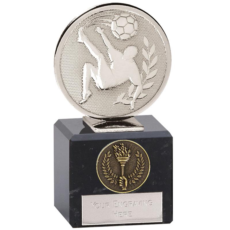 4 Inch Silver Overhead Kick Football Global Award