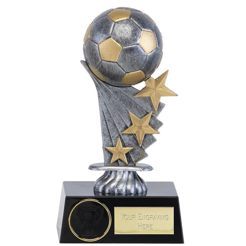 Stars & Silver Ball Football Shooting Star Award