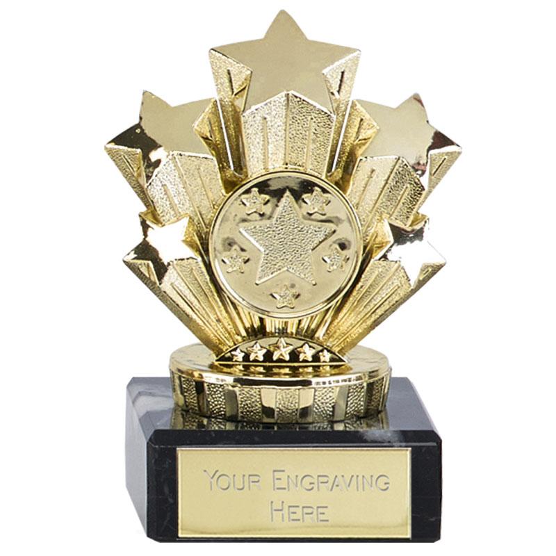 4 Inch Mini Gold Five Star Award