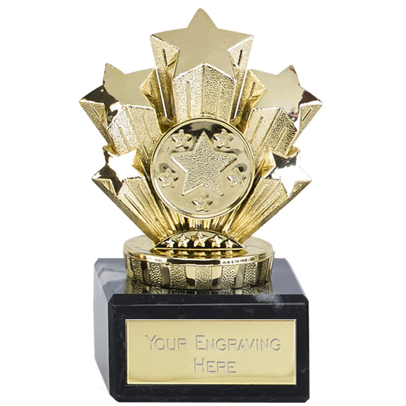4 Inch Mini Gold Five Star Award