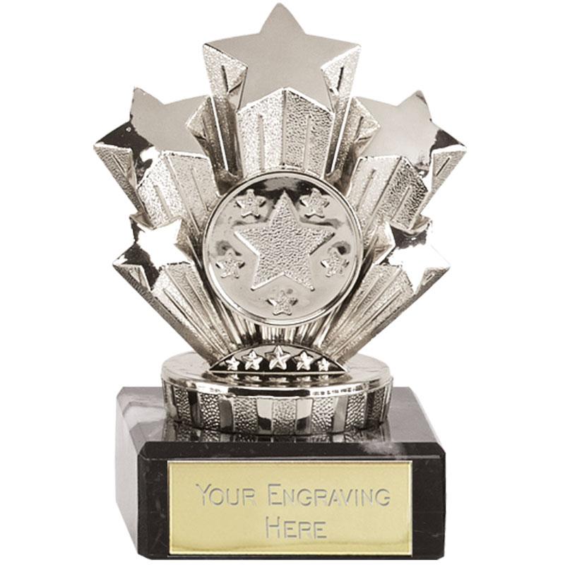 4 Inch Mini SIlver Five Star Award