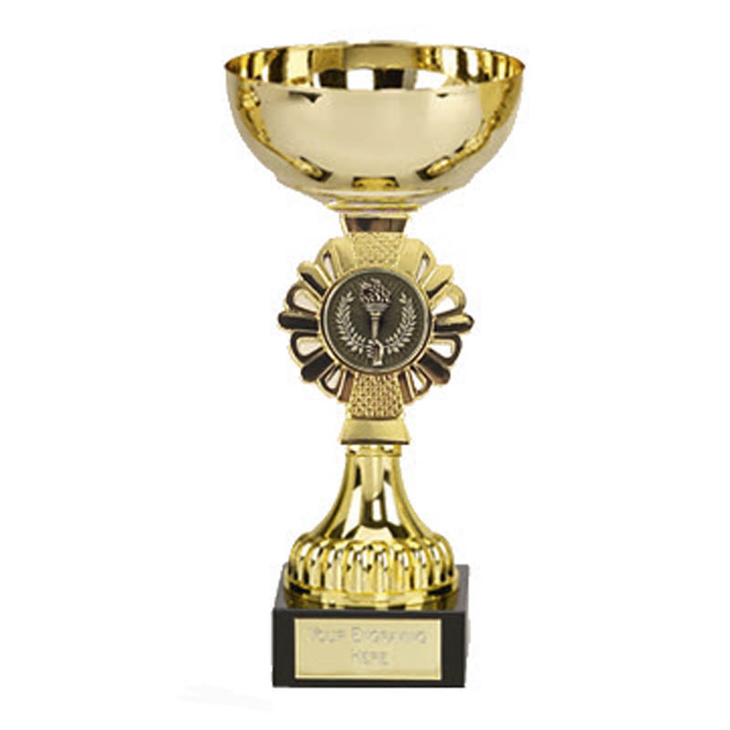 6 Inch Gold Centre Holder Gold Shield Trophy Cup