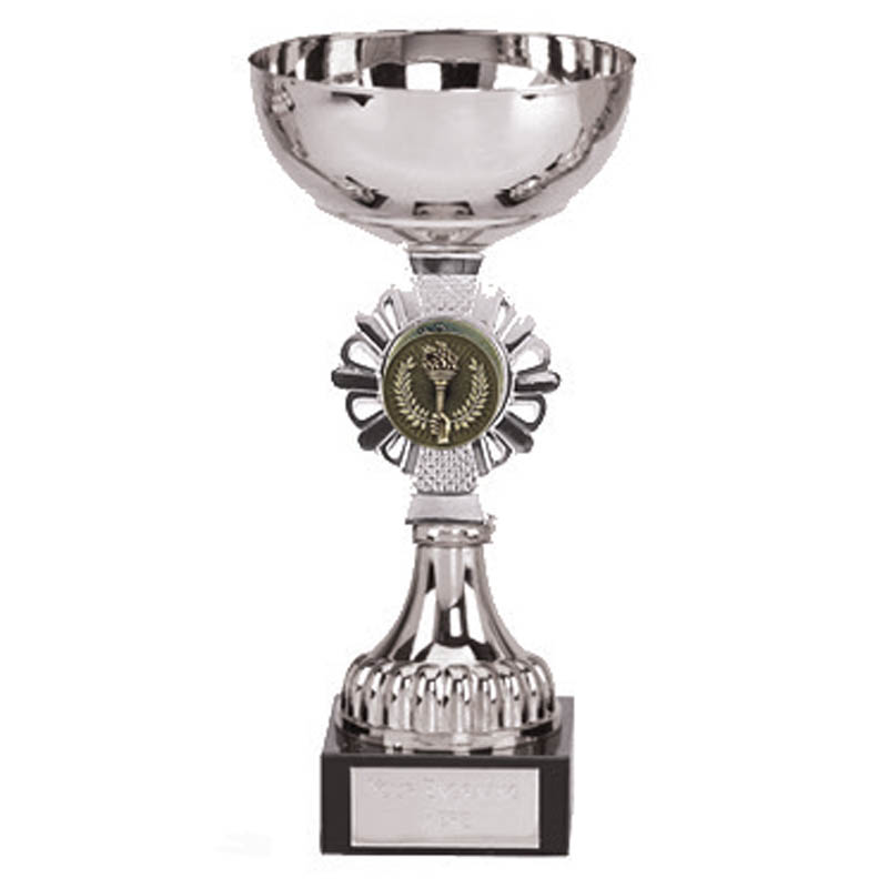 7 Inch Silver Centre Holder Silver Shield Trophy Cup