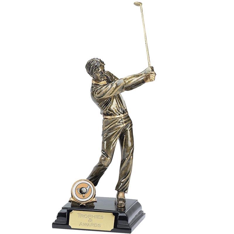 9 Inch Follow Through Golfer Golf Award