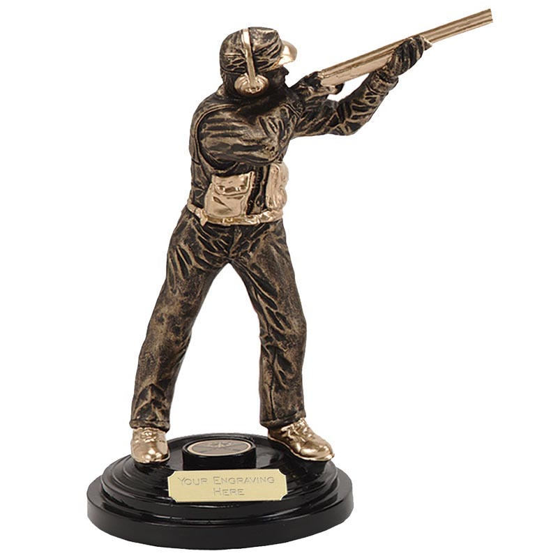 5 Inch Male Shooter Shooting Award
