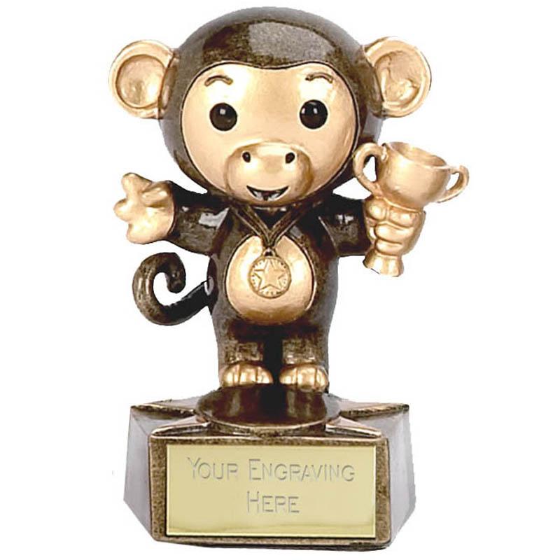 3 Inch Monkey Trophy Children