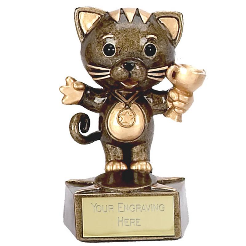 3 Inch Cat Trophy Children