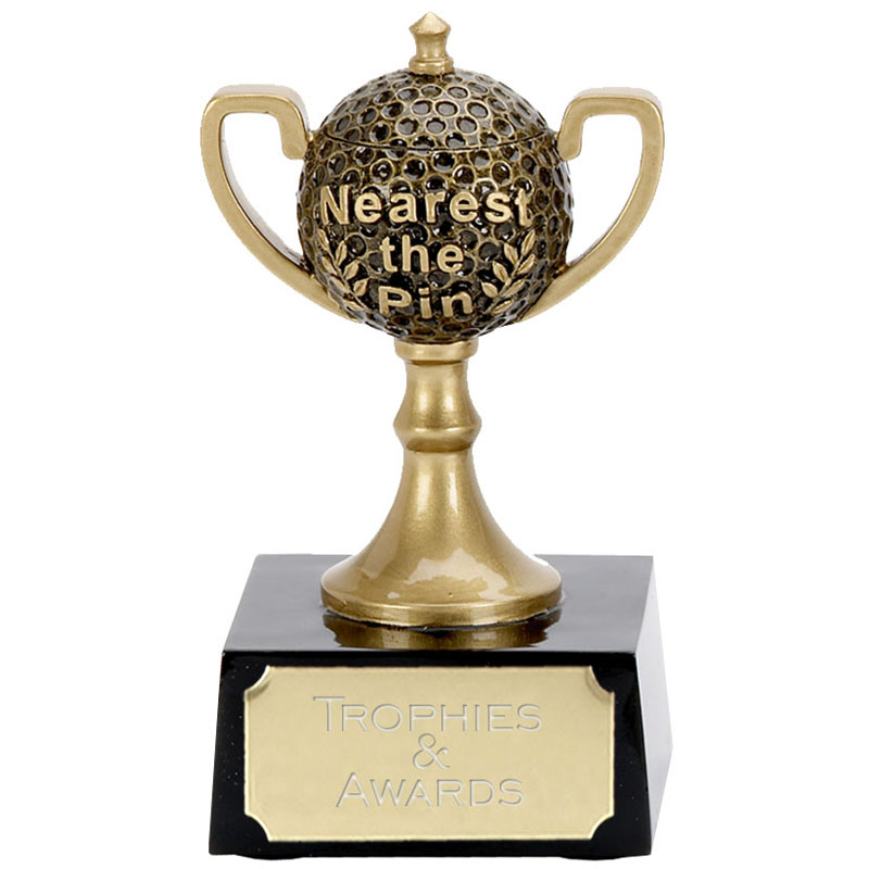 4 Inch Gold Nearest The Pin Mini Cup