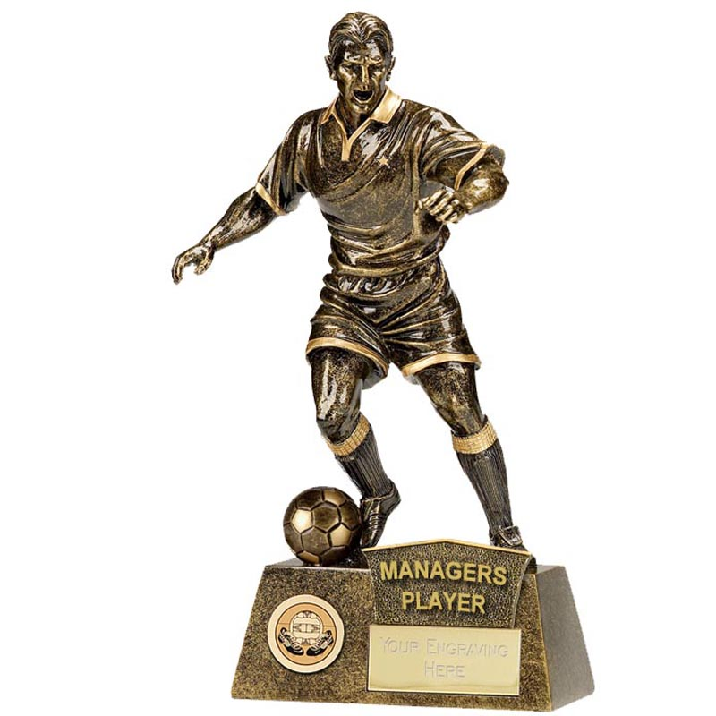 9 Inch Man of the match Football Pinnacle Statue