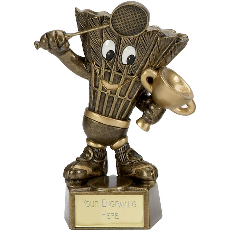 5 Inch Badminton Man Award