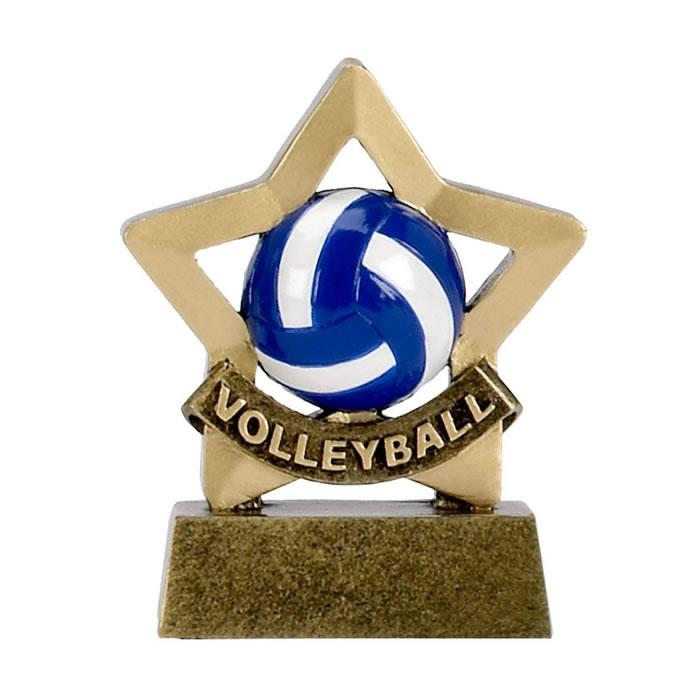 3 Inch Mini Star Volleyball Award