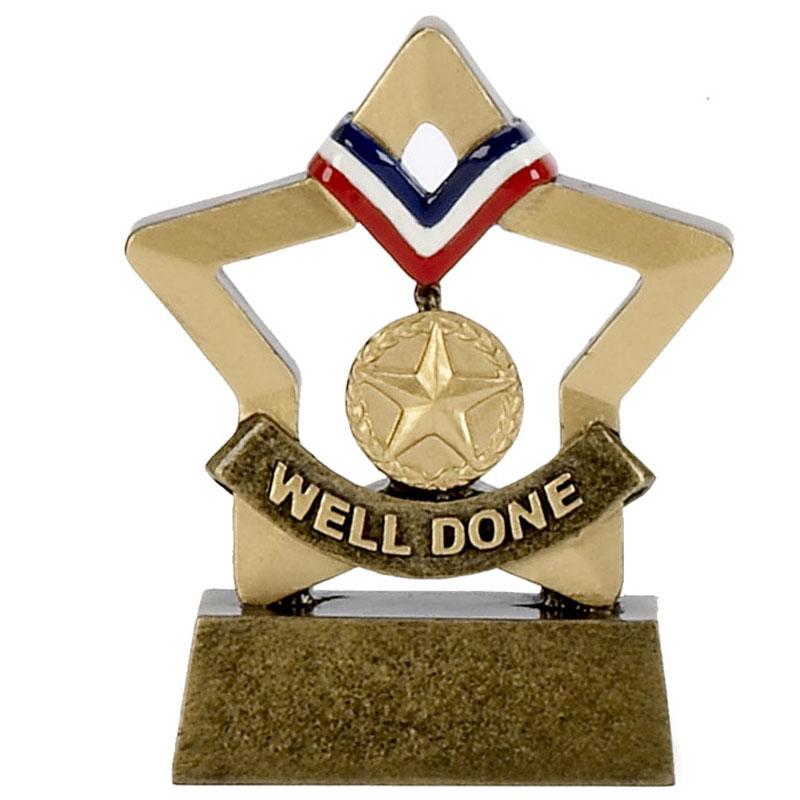 3 Inch Mini Star Well Done Award