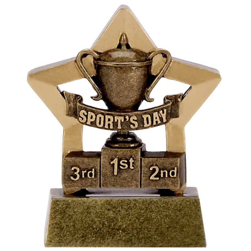 3 Inch Mini Star Sports Day Award