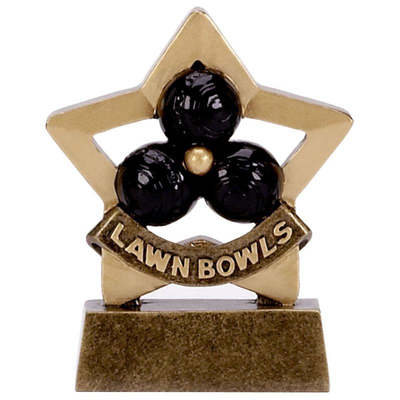 3 Inch Mini Star Lawn Bowls Award