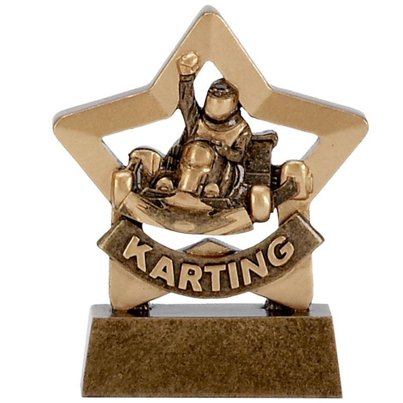 3 Inch Mini Star Go Karting Award