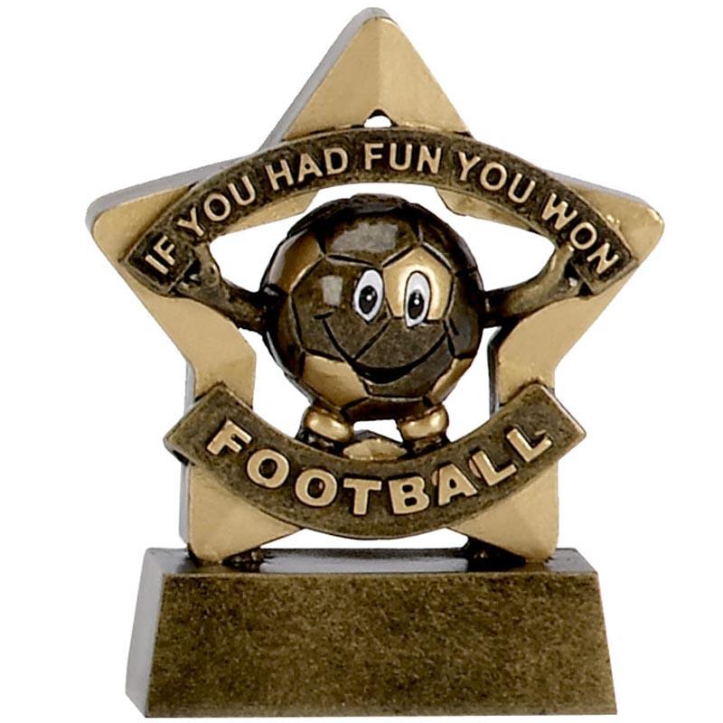 3 Inch Mini Star Football Resin Award