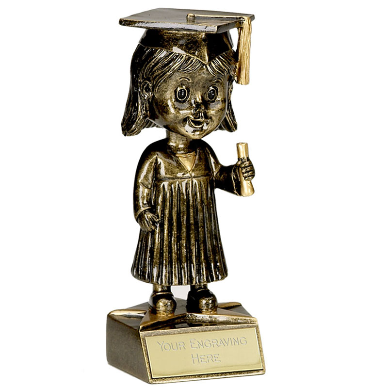 6 Inch Bobblehead Female Graduation Award