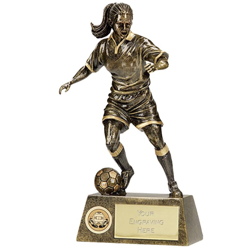 6 Inch Pinnacle Football Female Award