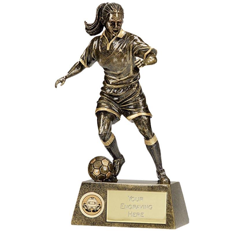 9 Inch Pinnacle Footballer Female Award