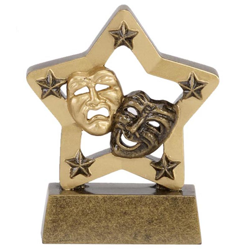 3 Inch Gold Mini Star Drama Award