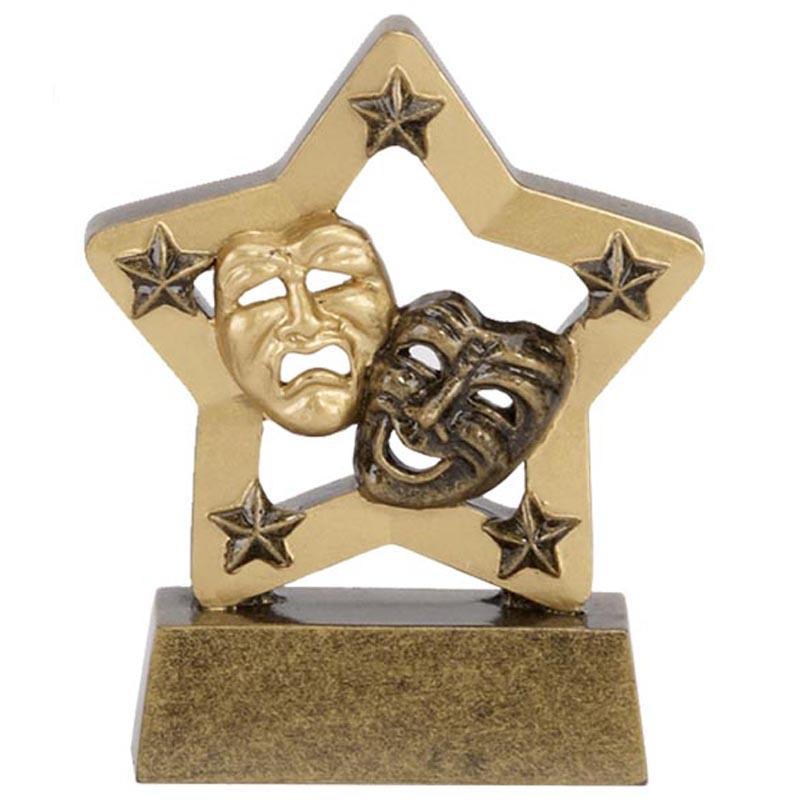 3 Inch Gold Mini Star Drama Award