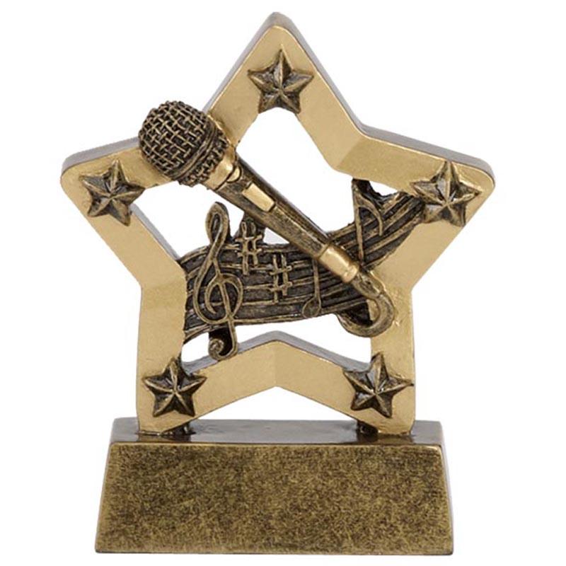 3 Inch Mini Star Microphone Award